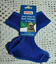 NWT! NEW PETCO easy step in adjustable Mesh Dog Harness Blue XS Toy Size 3-4 lbs