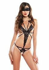 2Pc.Cage strap lace crotchless