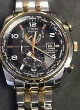 CITIZEN ECO-DRIVE WORLD TIME RADIO CONTROLLED WATCH MENS H820 #000M1