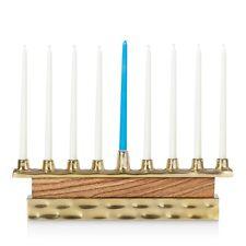 Michael Wainwright 249220 Truro Acacia wood and Gold plating Menorah Wood/Gold