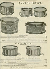 Catalog Page Ad Drums Rosewood Nickel Marching Snare Toy Piano Ocarinas  1907