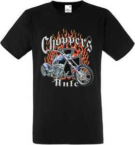 T Shirt IN Black HD Biker Chopper&old Schooldruck Model Choppers Rule