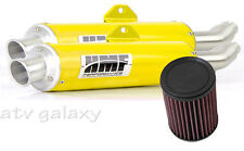 HMF Can Am BRP Renegade 800 12 13 14 Yellow Dual Full Exhaust & K&N Filter