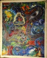 Oil Painting, Original, AYAHUASCA ART, Psychedelic, Bought in Peru 2016