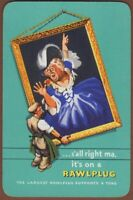 Playing Cards 1 Single Card Old Vintage RAWLPLUG Advertising Art LADY PAINTING A
