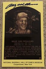 Billy Williams Chicago Cubs Signed Hall Of Fame Cooperstown Plaque Postcard