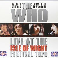 THE WHO LIVE AT THE ISLE OF WIGHT FESTIVAL 1970 - 3 LP GATEFOLD BLUE  VINYL