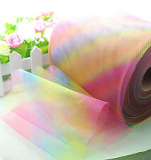"5Yard 6"" Rainbow tulle tutu trims DIY Wedding Decoration dress"