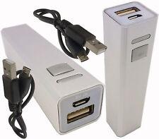 2x 2600mAh USB Portable External Backup Battery Charger Power Bank mobile phone