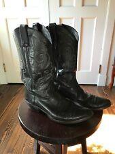 black cowboy boots womens size 10
