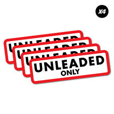 4X Unleaded Only Petrol Fuel Sticker Decal Car Automotive Fuel Racing #6816EN