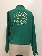 VINTAGE 1950s to 1960s 4H GREEN CLOVER JACKET ADULT MEDIUM USA OFFICIAL 4-H