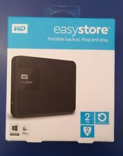 Western Digital WD - easystore 2 TB External USB 3.0 Portable Hard Drive - Black