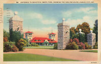 Postcard Swope Park Shelter House Kansas City Missouri Posted 1952