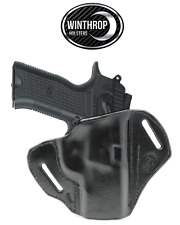 "EAA SAR K2P 9mm 3.8"" Barrel OWB NO Shield Leather Holster R/H Black"