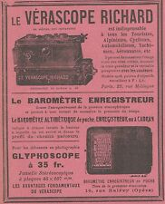 Z9406 Vérascope RICHARD - Glyphoscope -  Pubblicità d'epoca - 1909 Old advert
