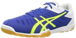 ASICS Table Tennis Shoes EXCOUNTER 2 Flash Blue Yellow 1073A002 With Tracking