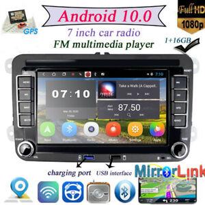 "Für VW Golf 5 Passat Polo 2DIN Android 10.0 7"" GPS Autoradio Navi BT MP5 Player"