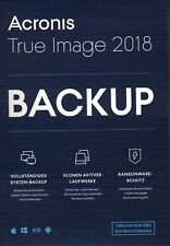 Acronis True Image 2018 Backup-Software - 1 Computer