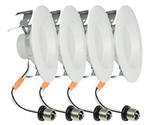 "Project Source 65-Watt White Dimmable LED Recessed Down Light 5"" 6"" ~ QTY 12 ~"