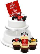 NOVELTY Formula 1 Mix PACK 2 Large 12 Cupcake STAND UP Cake Toppers Birthday One