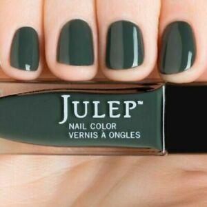 NEW! Julep nail polish ROC SOLID Nail Vernis ~Vintage military creme ~ Green