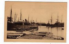 LINCOLNSHIRE, BOSTON, THE DOCKS, BARGE, STEAM SHIP