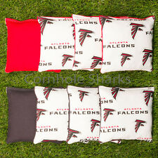 Cornhole Bean Bags Set of 8 Aca Regulation Bags Atlanta Falcons Free Shipping!