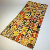 1950' Japanese Baseball Vintage Rare Menko Card Uncut Sheet