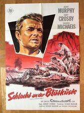 Schlacht an der Blutküste (Kinoplakat '61) - Audie Murphy / Dill-Grafik