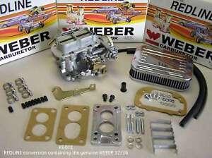 1986-1989 Suzuki Samurai 1.3 G13 32/36 Weber Carb Conversion Kit Electric Choke