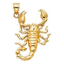 14K yellow gold Scorpion pendant EJPT1585