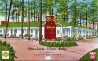 Cape Charles Virginia Rittenhouse Motor Lodge Motel Linen 1940s Postcard
