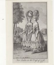 Two Ladies In The Dress of 1778 Postcard 570a