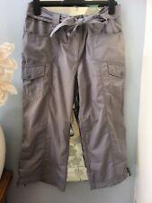 M&S Per Una Grey Crop 3/4 Trousers UK 16 Reg