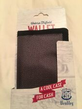 WEMBLEY Men's Gray w/Black Trim Velcro Trifold Wallet Perfect for Beach
