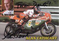 uralte AK, Autograph Motorradrennfahrer Alan Cathcart