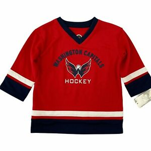 NHL Washington Capitals Red White & Blue Toddler Hockey Jersey 3T