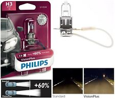 Philips VIsion Plus 60% H3 55W One Bulb Fog Light Halogen Legal Upgrade Replace
