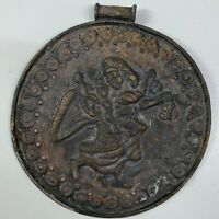 Wonderful Roman Old Ancient king Queen bronze unique Pendant