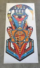 Bally ROLLING STONES Pinball Machine Playfield Overlay  Clear Inserts - DIE CUT