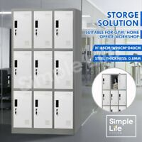 9 Doors Steel Metal Storage Cabinet Home Office Locker Filing Cupboard Cabinet