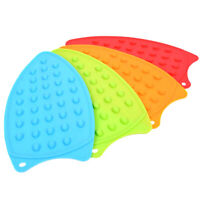 KQ_ Non-slip Heat Insulation Silicone Electric Flat Iron Pad Mat Holder Replacem