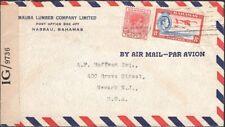 BAHAMAS, 1945. Censor 99 Cover 103B,108, Nassau - Newark