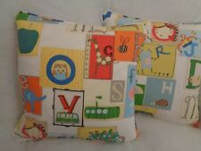 "LITTLE LETTERS BY HARLEQUIN 1 PAIR OF 18"" CUSHION COVERS - DOUBLE SIDED & PIPED!"