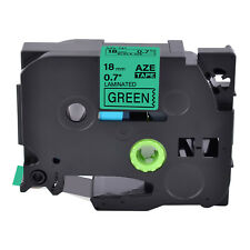 New Listing1pk Tz 741 Label Tape Black On Green Tze 741 For Brother P Touch Pt 1880 18mm