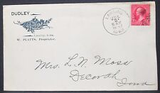 Dudley House US ADV Cover Lansing Fancy Cancel 1897 USA Bahnpost Brief (H-10970