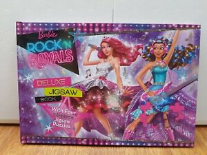 Barbie In Rock'N Royals Deluxe Jigsaw Book With Four 96 Piece Jigsaw Puzzle.