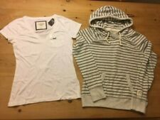 NEW ABERCROMBIE OFFER WOMENS HOODIE  AND  WHITE T SHIRT CLEARANCE SIZE MEDIUM