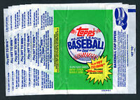 Lot of 7 1981 Topps Baseball Wrappers jhcc